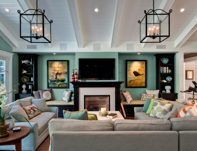 green-wall-eclectic-room