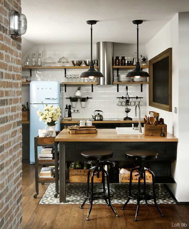 06-trendy-meets-retro-small-kitchen-design-homebnc