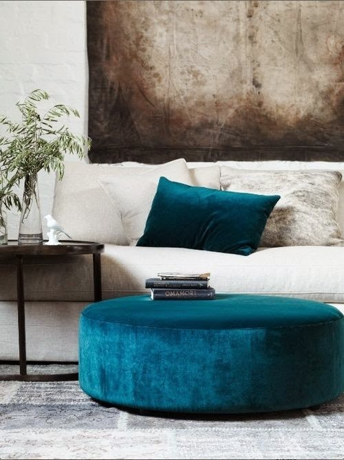 Wonderful-aqua-velvet-ottoman-footstool-table-via-Automatism